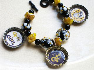 GA Tech bottlecap bracelet 003