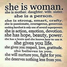She is woman